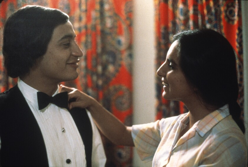"David Villalpando, wearing a tuxedo, and Zaide Silvia Gutiérrez in ""El Norte."""
