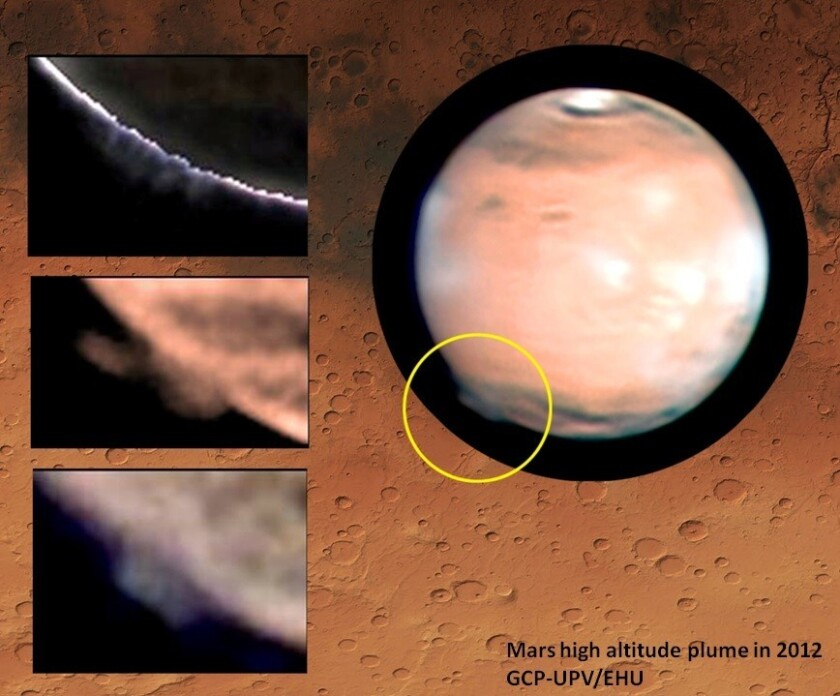 Strange cloud on Mars