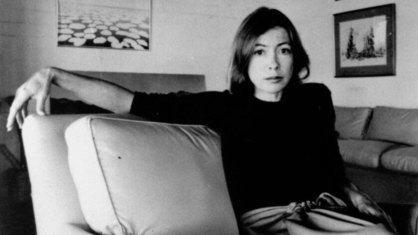 Joan Didion on May 1, 1977.