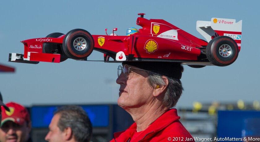 F1 fan at the inaugural 2012 United States Grand Prix at the Circuit of the Americas.