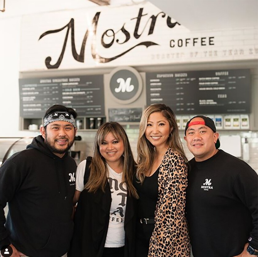 Mostra Coffee was founded in a 4S Ranch garage by Sam Magtanong, Beverly Magtanong, Jelynn Malone and Mike Arquines.