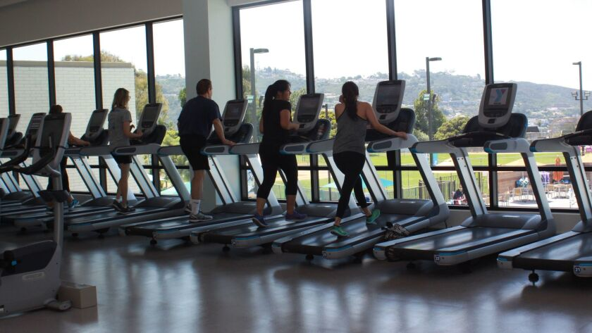 Ocean views inspire treadmill-users at the new Dan McKinney Family YMCA.