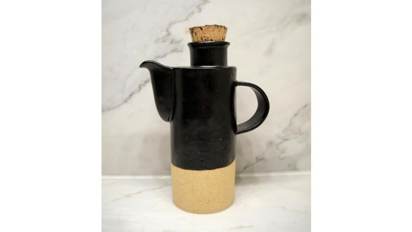Len Carella's longneck stoneware pot