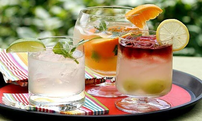 TAKE A TRIP DOWN SOUTH: Variations on classic South American cocktails such as pisco sours (a frothy citrus cocktail) and caipirinhas (a potent Brazilian specialty) are appearing on cocktail menus all over town, and they're a cinch to make at home for a crowd.