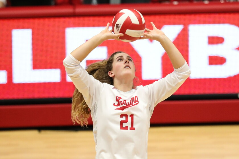 Former Torrey Pines star Emily Fitzner now setting for Indiana.