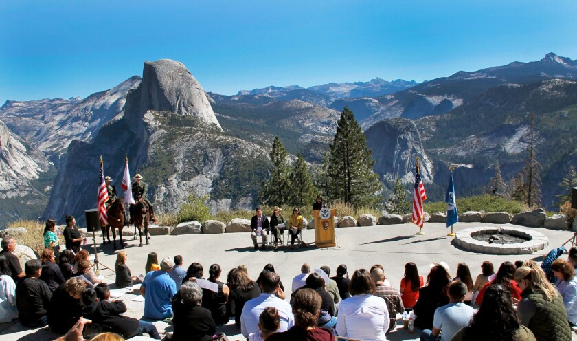 Yosemite's Half Dome lends scenic backdrop to swearing in new citizens