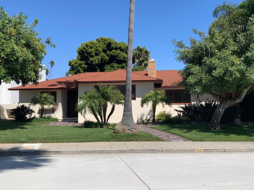 The Louis and Frances Stroud/Thomas Shepherd residence at 211 Avenida Cortez in Lower Hermosa.