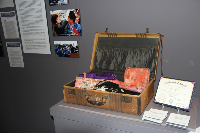 Ruth Ikeda's suitcase at Poston incarceration camp