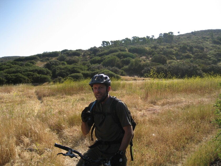 Brian Smith on the Del Mar Mesa trails.