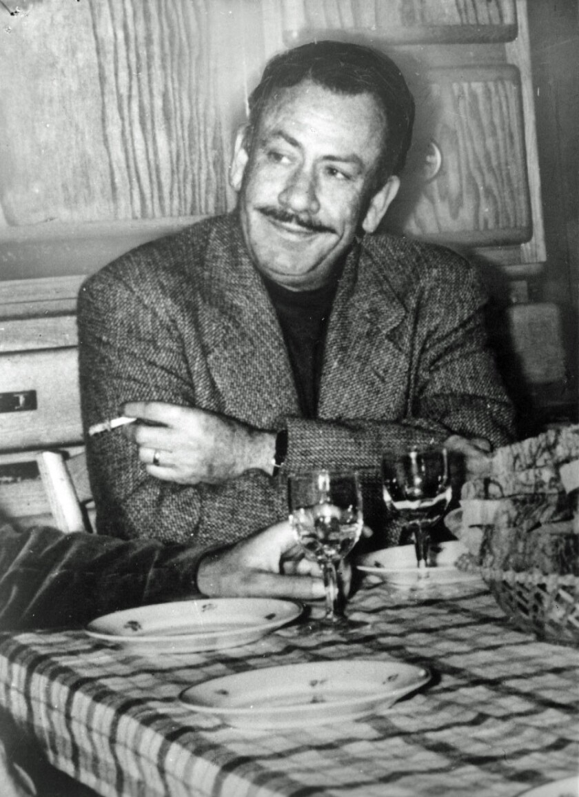 "John Steinbeck in 1938, when he was at work on ""The Grapes of Wrath."""