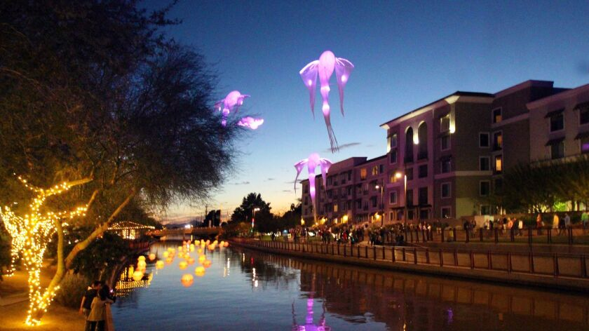 Scottdale's Canal Convergence is an annual, free event that showcases large-scale interactive artwor
