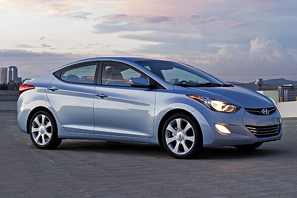 2011-2013 Elantras were originally rated at 29/40/33 mpg. Hyundai has adjusted that to 28/38/32 mpg. When we tested it, we averaged 30 mpg.