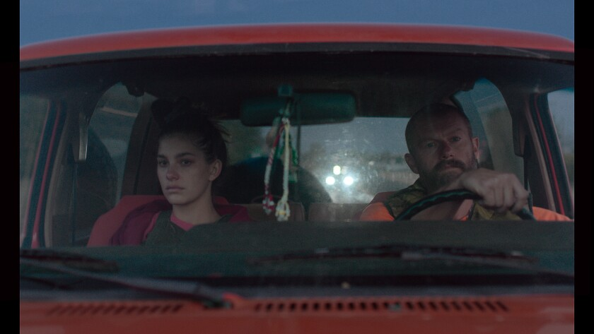 "Camila Morrone and James Badge Dale in ""Mickey and the Bear."""