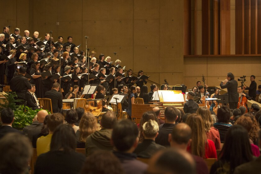 The Dream Orchestra, the Cathedral Choir and others perform Handel's Messiah at the Cathedral of Our Lady of the Angels on Sunday.