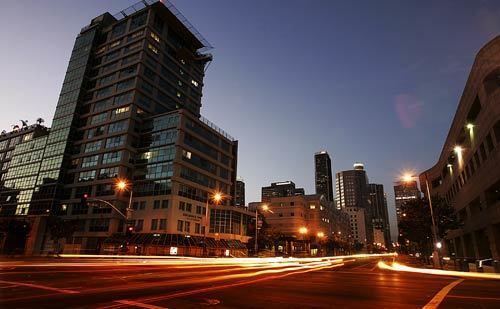 Once dotted with parking lots, auto dealerships and warehouses, the South Park area of downtown Los Angeles is being transformed into a neighborhood of shiny new residential high-rises.