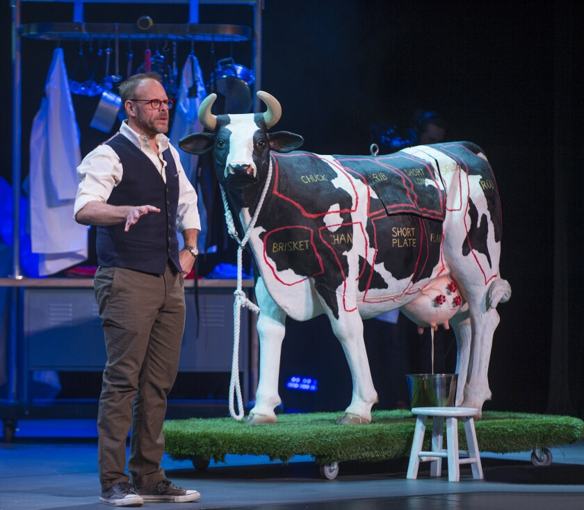 """Iron Chef"" host Alton Brown in his live stage show"