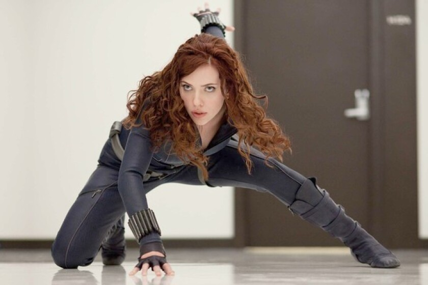 "Scarlett Johansson as Natasha Romanoff in a scene from ""Iron Man 2."" The character will get her first solo outing in the upcoming ""Black Widow"" film, scheduled for release in May 2020."