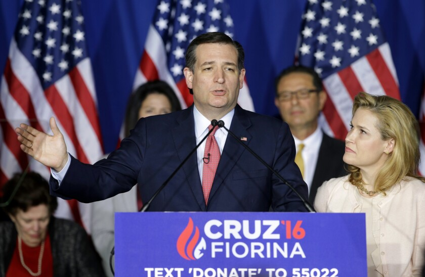 Ted Cruz, with wife Heidi at his side, ends his campaign for president.