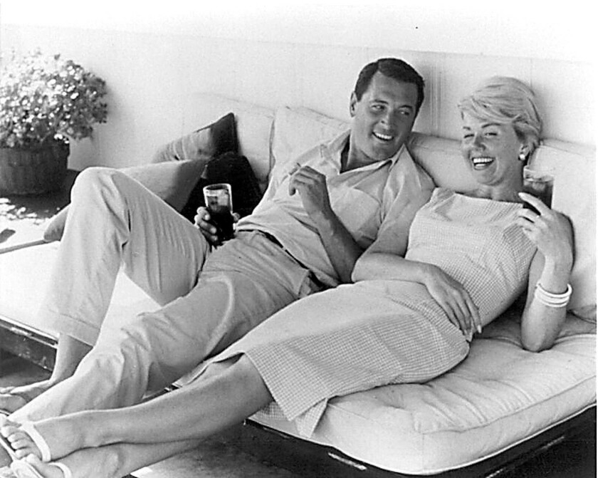 The Beverly Hills residence where Doris Day, right, lived during her show business days is for sale at $14.5 million.