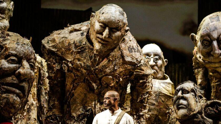 LOS ANGELES, CA -- THURSDAY, OCTOBER 18, 2018-- Sean Panikkar playing Ghandi in the Los Angeles Oper