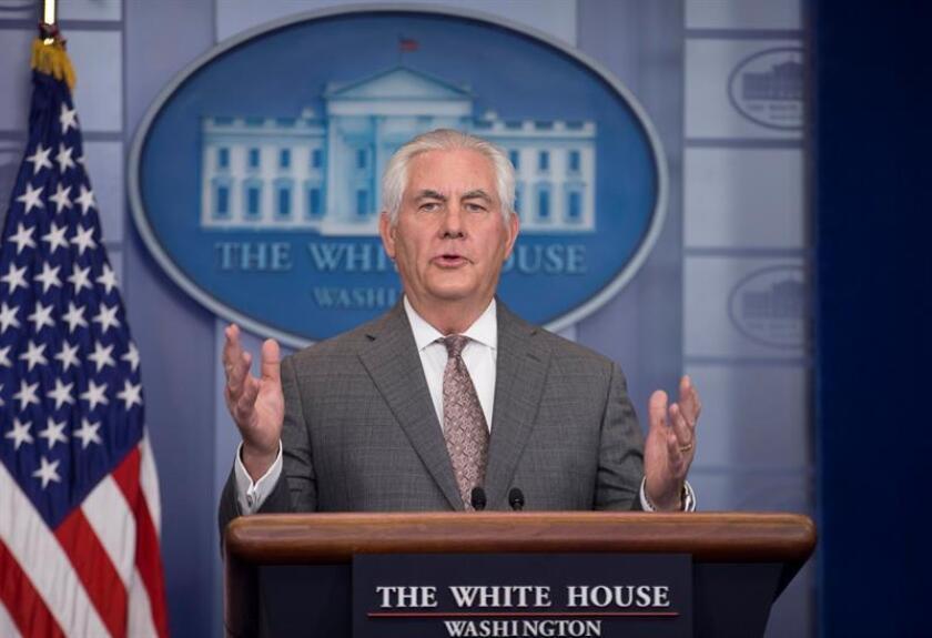 El secretario de Estado de EEUU, Rex Tillerson, ofrece una rueda de prensa. EFE/ARCHIVO