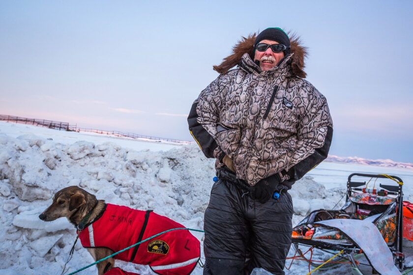 Jeff King, a four-time Iditarod champion, is shown during last year's race. On Saturday, a snowmobile crashed into his team and another in what authorties say was an intentional assault. The driver believed responsible is in custody.