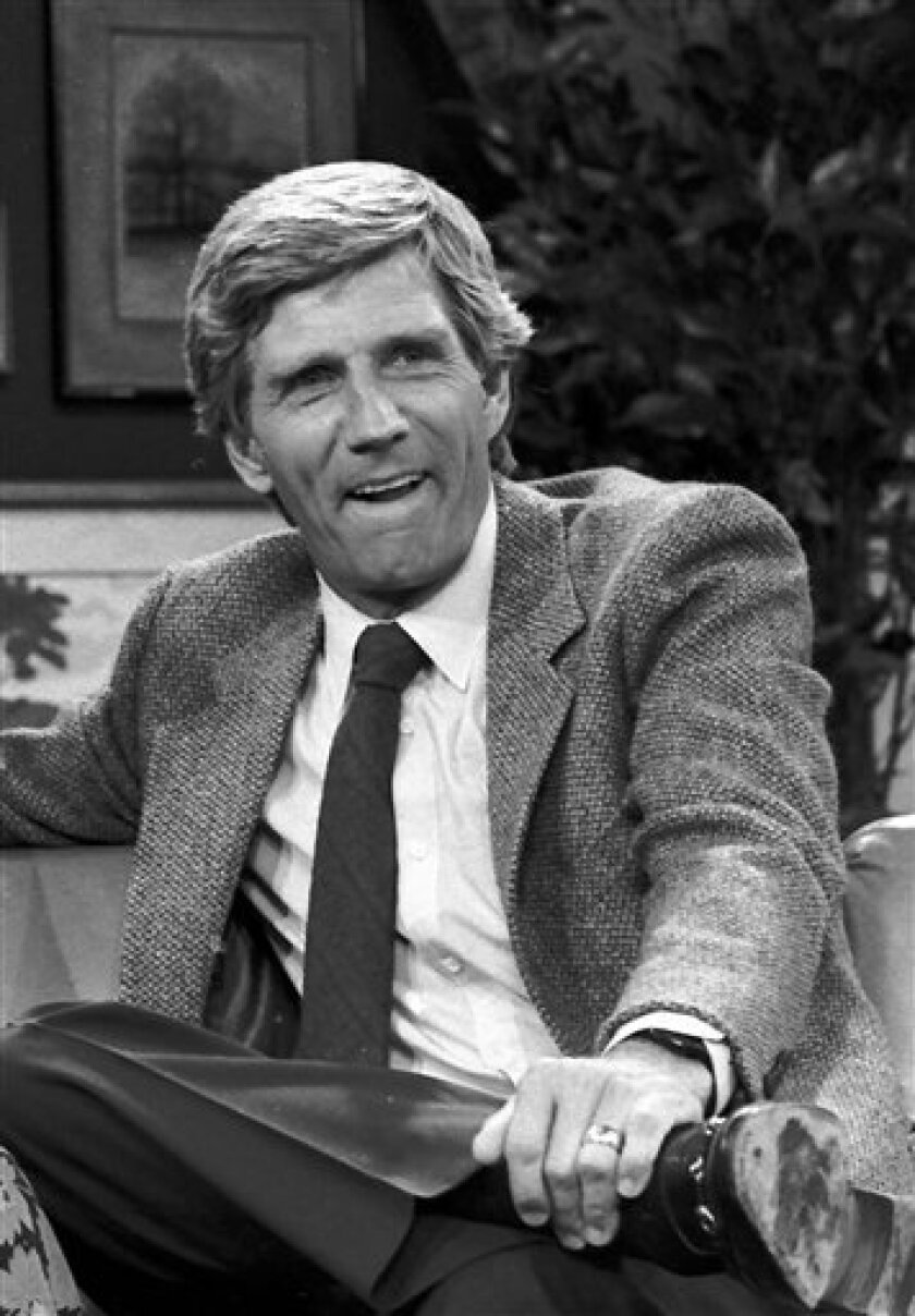 FILE - This Aug. 1982 file photo shows Gary Collins. Gary Collins, an actor, television show host and former master of ceremonies for the Miss America Pageant, died Saturday, Oct. 13, 2012 in Biloxi, Miss. He was 74. During the 1980s, Collins hosted the Miss America pageant and the television shows