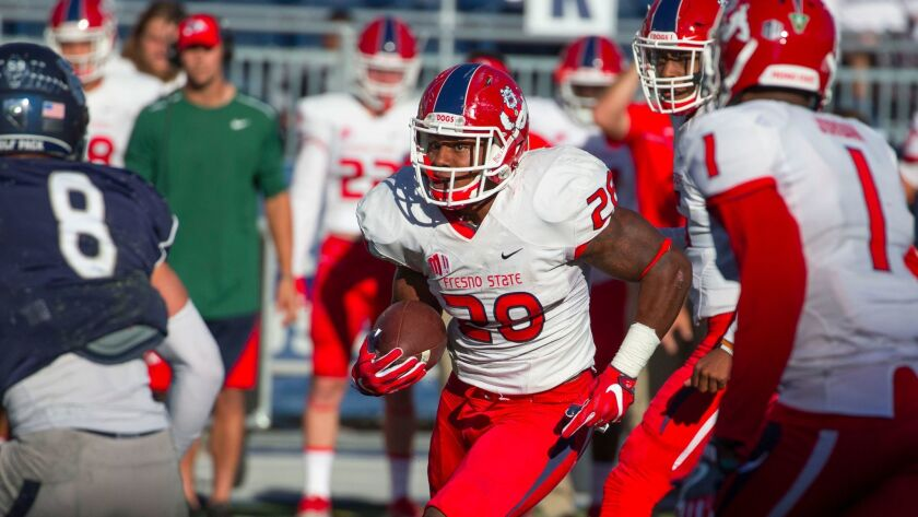 Fresno State running back Dontel James rushed for a career-high 169 yards in Saturday's 27-22 loss at Nevada.
