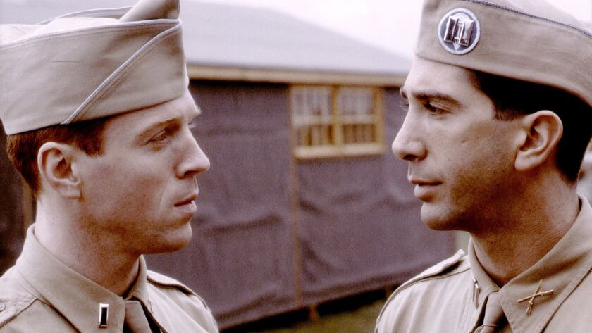 "Damian Lewis and David Schwimmer in ""Band of Brothers."""