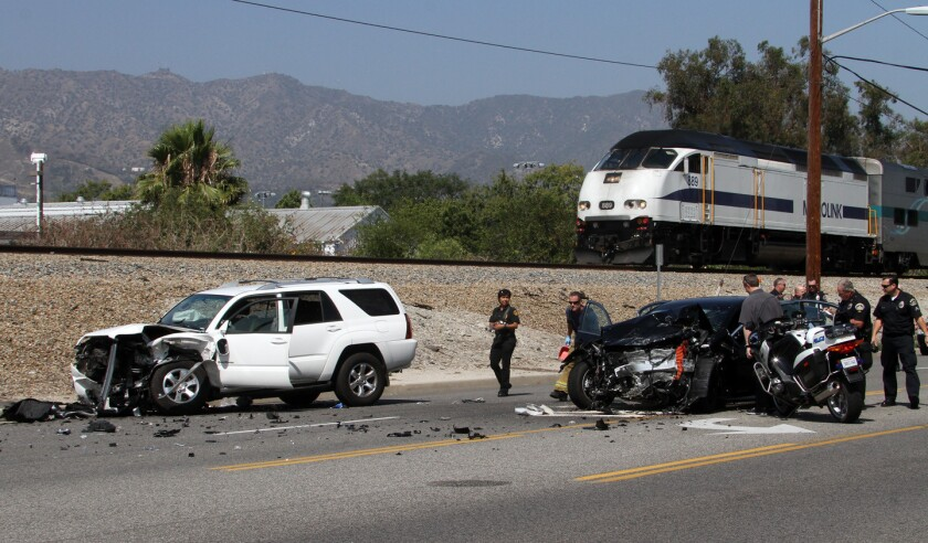 High-speed crash in Burbank sends two drivers to hospitals