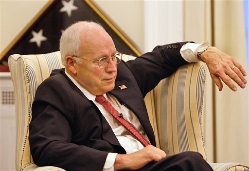 Vice President Dick Cheney pauses during an interview with the Associated Press at the White House in Washington Thursday, Jan. 8, 2009. (AP Photo/Ron Edmonds)