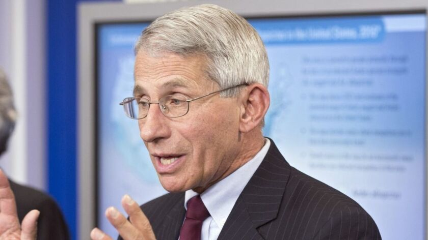 """Anthony Fauci, director of the U.S. National Institute of Allergy and Infectious Diseases, cautioned: """"There's always excitement, but it should be saved for the results."""""""
