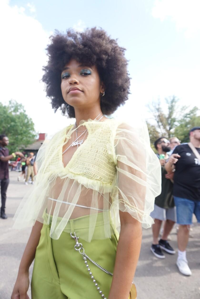 Kelsey Ford at Afropunk in Brooklyn, N.Y.