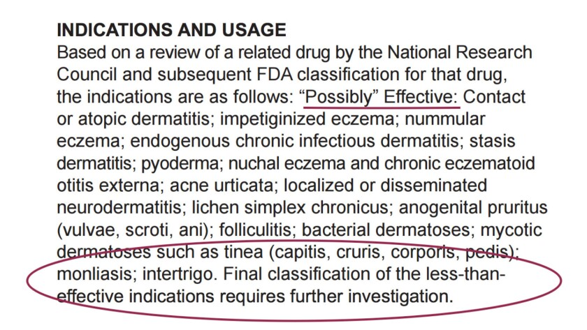 And it costs almost $10,000 per tube: warnings in the prescription circular that Novum's Aloquin gel might not even work.