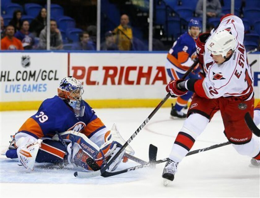 Hurricanes score 4 in 3rd, rally past Isles 6-4 - The San