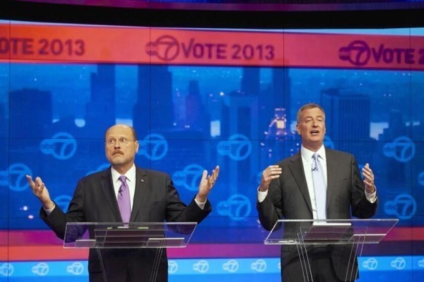 With Democrat far ahead, New York mayoral race turns nasty
