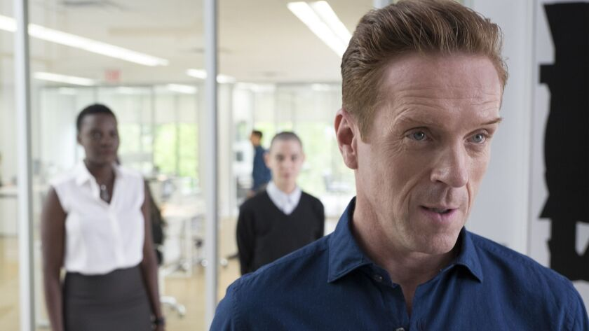 "Damian Lewis as Bobby ""Axe"" Axelrod in ""Billions."""