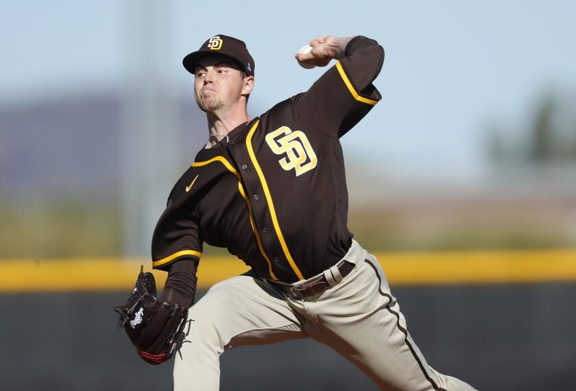 Padres pitcher MacKenzie Gore
