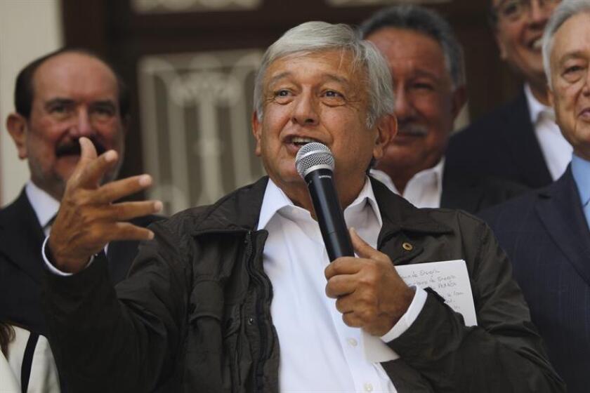 El próximo presidente de México, Andrés Manuel López Obrador, participa durante una rueda de prensa. EFE/Archivo