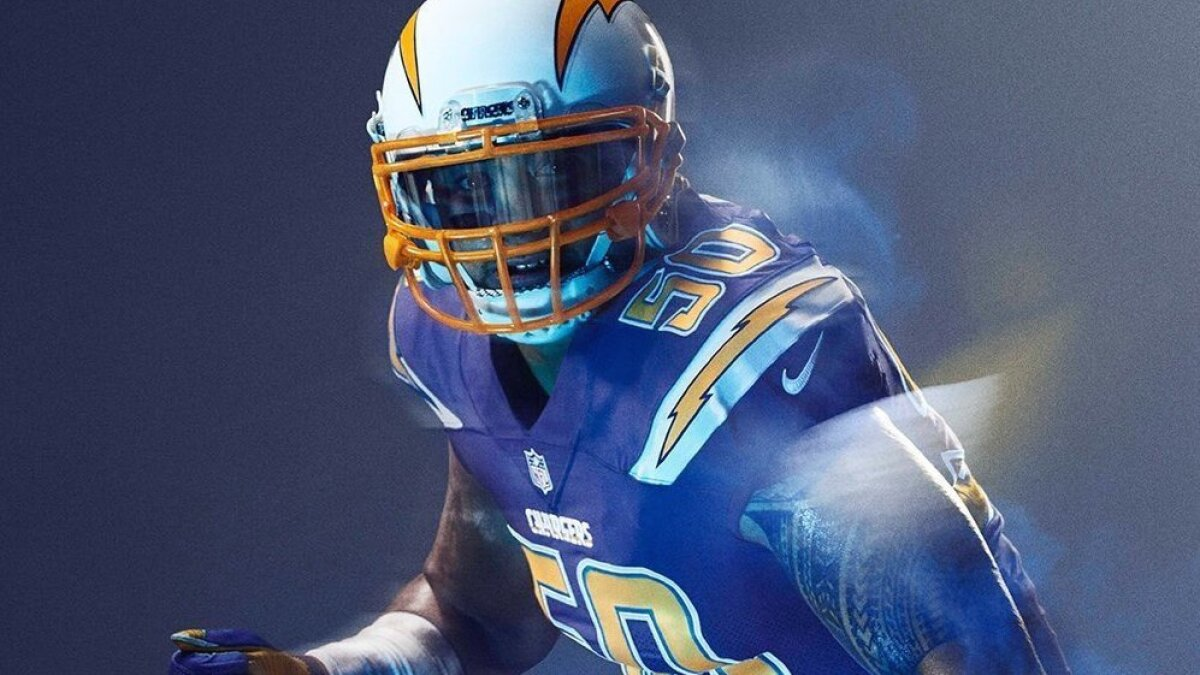 new york a0347 ef7b8 New alternate Chargers uniform to 'rush' blue - The San ...