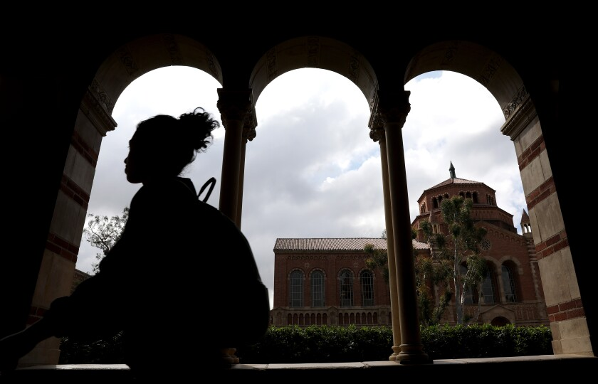 Students on the UCLA campus