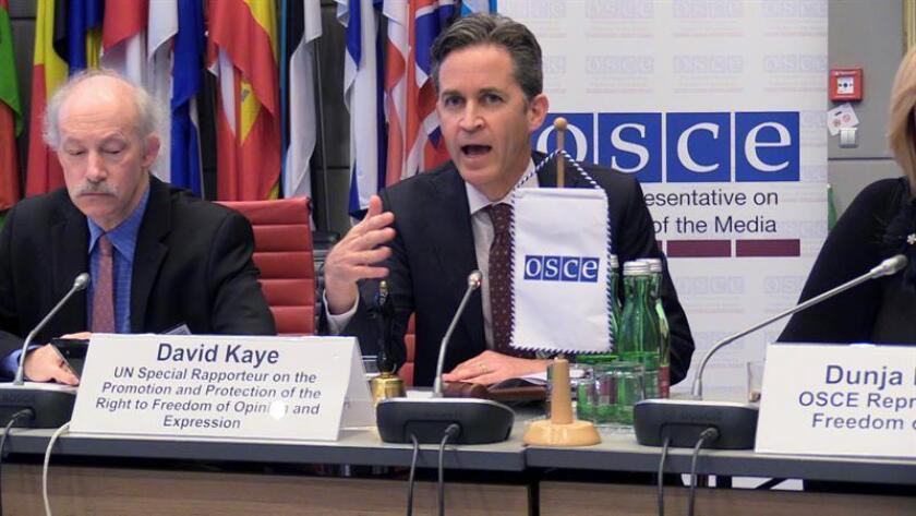 El relator de la ONU, David Kaye. EFE/Archivo