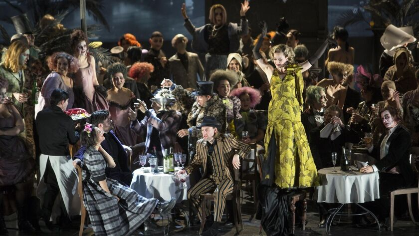 "Barrie Kosky's staging of ""La Bohème"" with Komische Oper Berlin, pictured here by Iko Freese, will travel to the Dorothy Chandler Pavilion to kick off Los Angeles Opera's 2019-20 season."