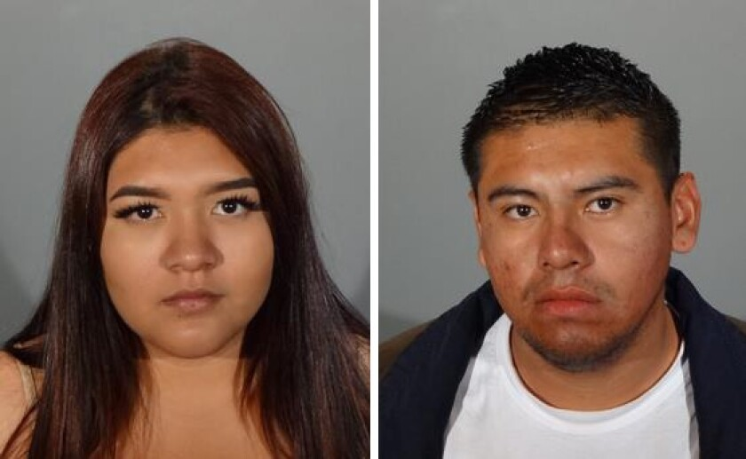 Rose Moreno, 18, and Ken Villafuerte, 24, face 11 felony counts of burglary from the Los Angeles County district attorney's office for their alleged involvement in a series of commercial burglaries that occurred in Glendale, South Pasadena and San Marino.