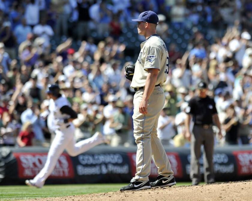 En la imagen, el jugador de los Padres de San Diego, Clayton Richard. EFE/Archivo