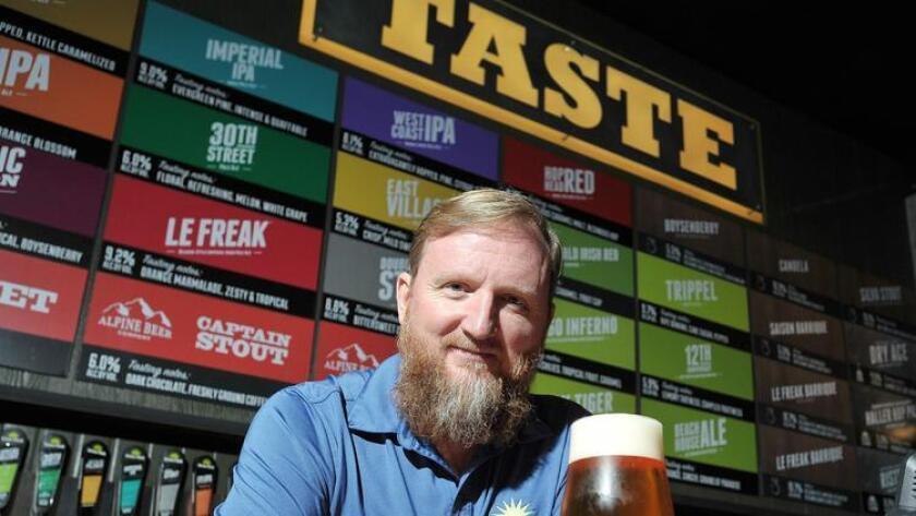Chuck Silva, brewmaster at Green Flash Brewing Co., at the brewery's tasting room. (Rick Nocon)