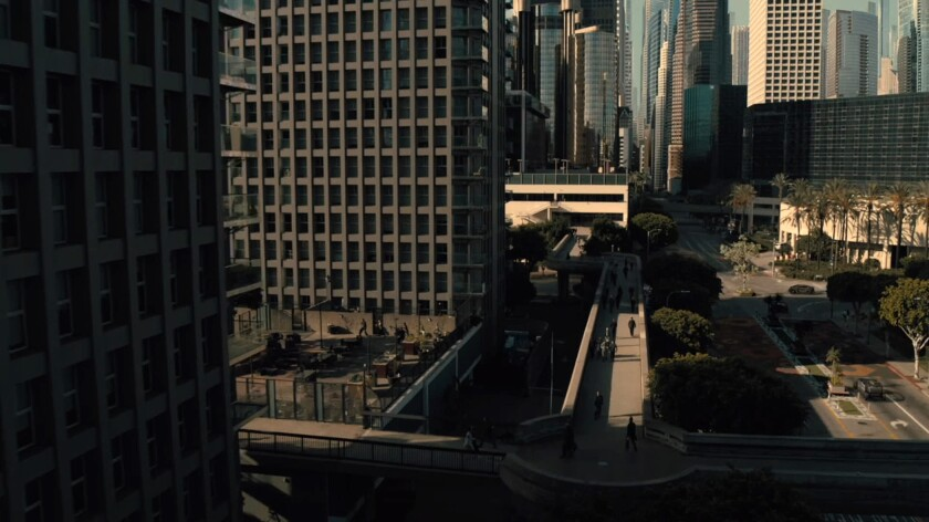"""On the surface, at least, """"Westworld's"""" futuristic Los Angeles is almost utopian."""