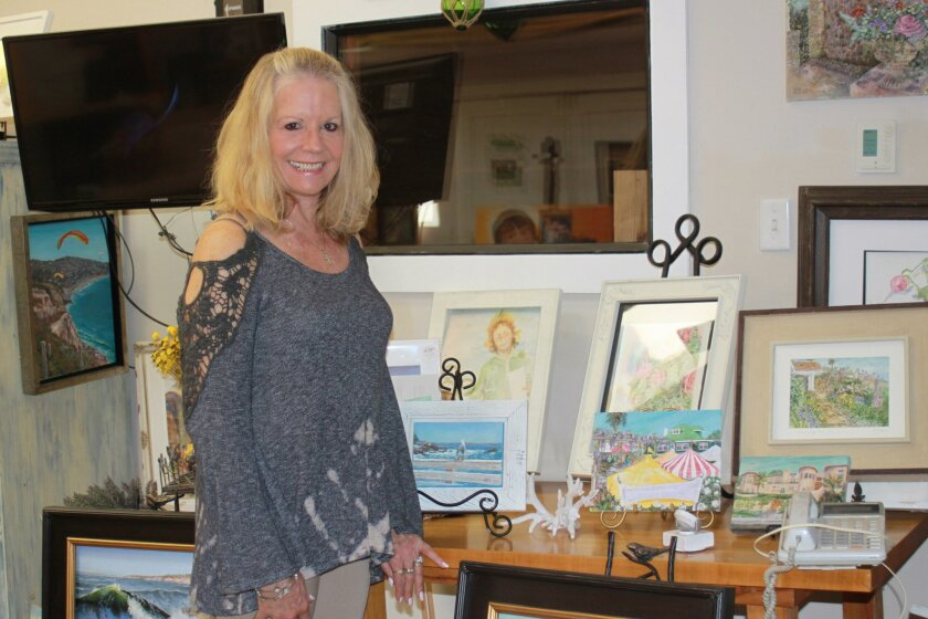 La Jolla painter Leah Higgins in her studio