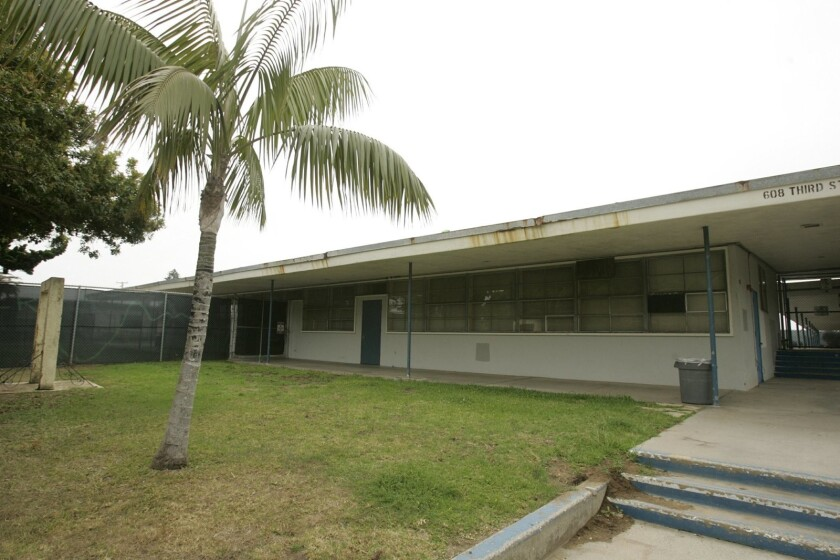 Pacific View Elementary School, pictured before renovation projects began, closed in 2003.