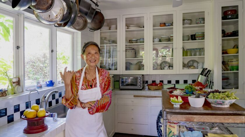 Su-Mei Yu in her home kitchen, which she uses for baking and prepping recipes.